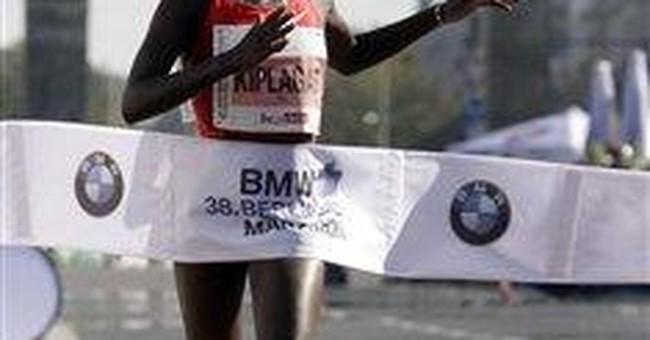 Makau sets world record in Berlin Marathon