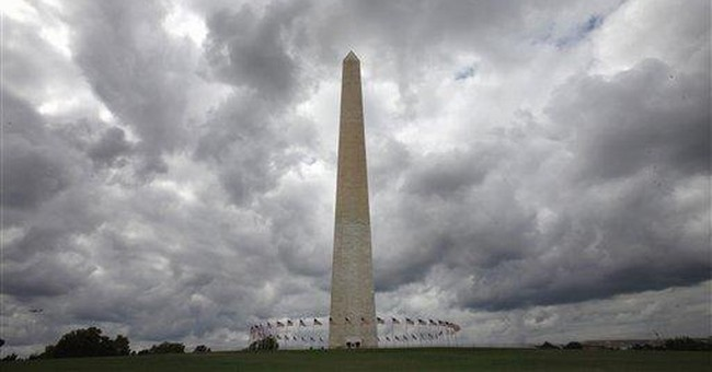 Engineers prep inspection atop Washington Monument