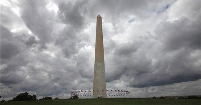Engineers prep inspection atop Washington Monument