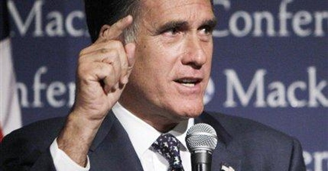 Perry ups ante with twist on Romney's '4 aces'