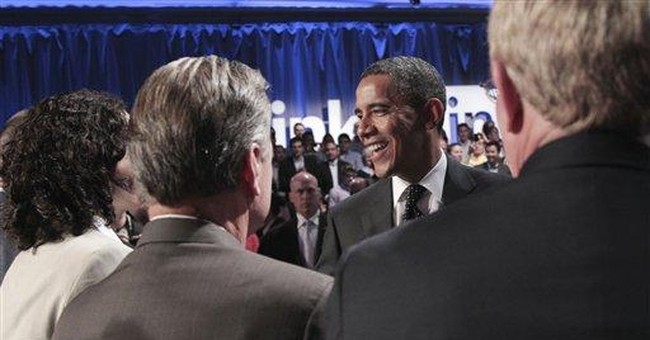 Fundraiser Obama works in tough money environment