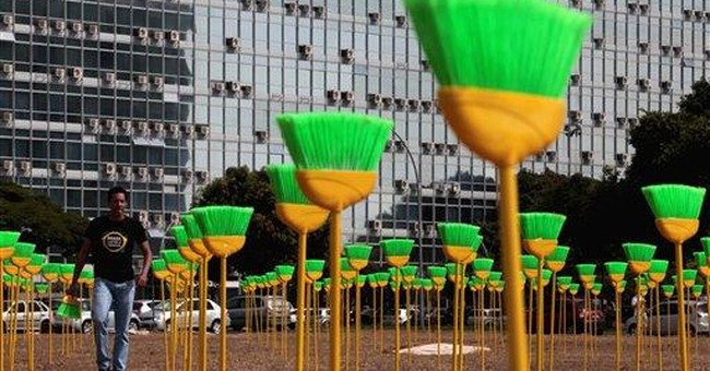 Protesters tell Brazil Congress to stop corruption