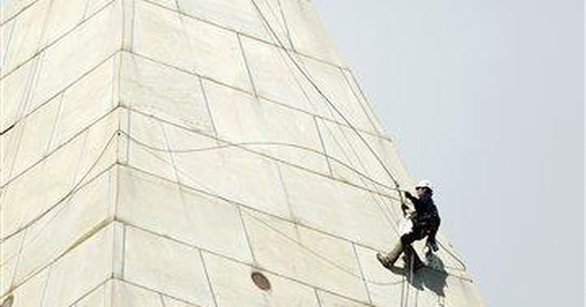 Engineer relishes work atop Washington Monument