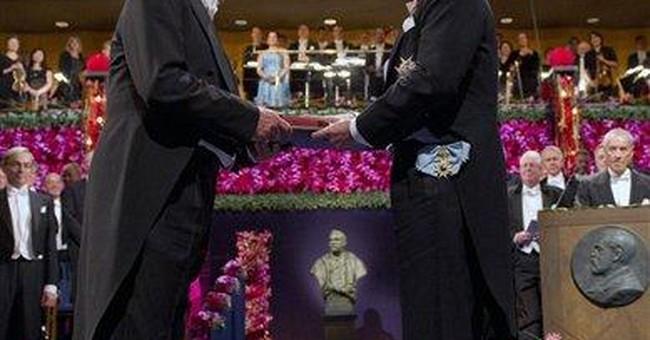 Call of a lifetime: 'Congrats! You get a Nobel!'