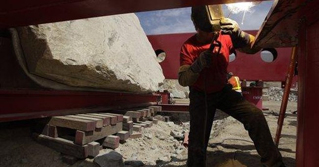 LA's latest art project is 340 tons and rock solid