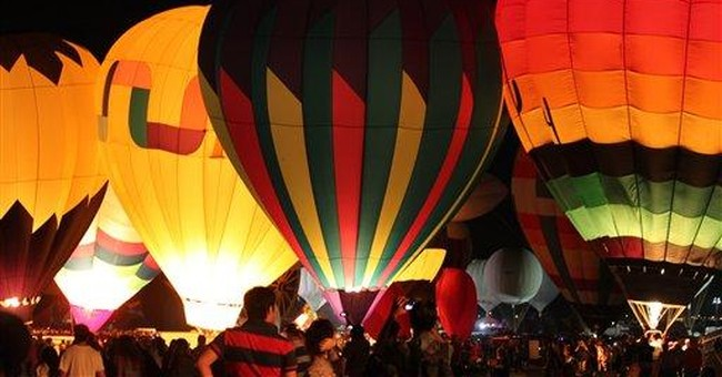Officials: NM hot-air balloon festival sets record