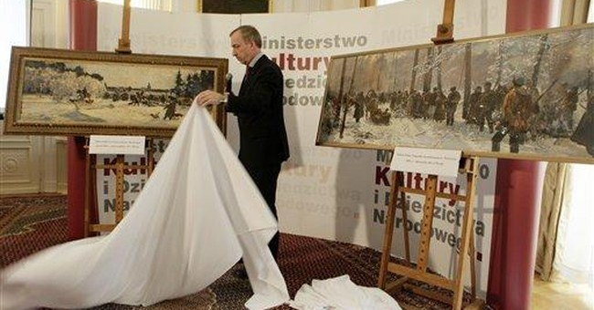 Stolen paintings seized in NY return to Poland