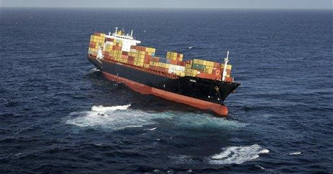 Ship stuck on New Zealand reef leaking some oil
