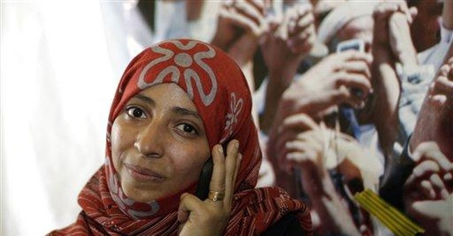 Arab uprisings' women celebrate Nobel recognition