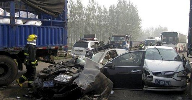 3 major road accidents in China kill 56 in 1 day