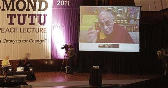 Dalai Lama criticizes China in S.African address