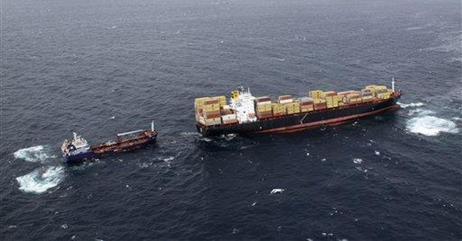 Oil from stuck ship turns up on New Zealand beach