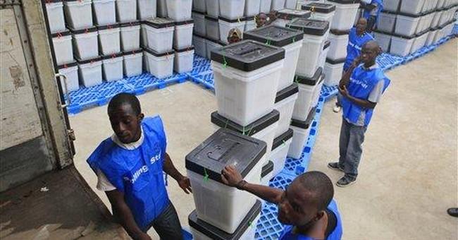 Nobel in hand, Liberia's leader seeks re-election