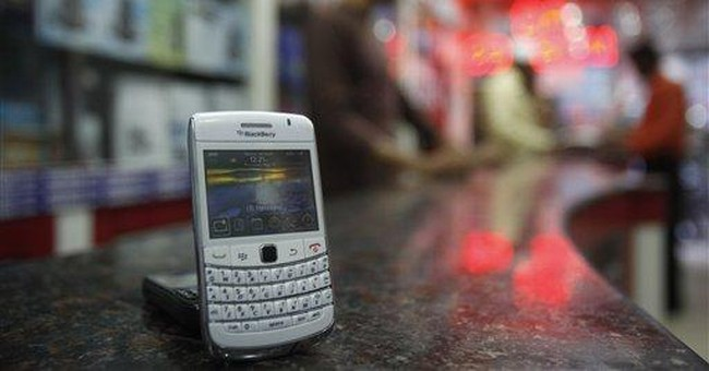 BlackBerry maker says email services restored