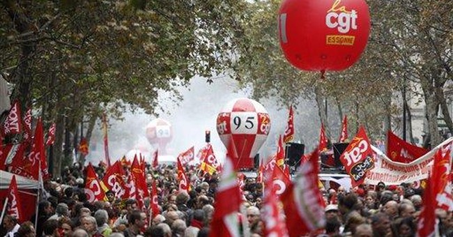 French strikes, protests against cutbacks