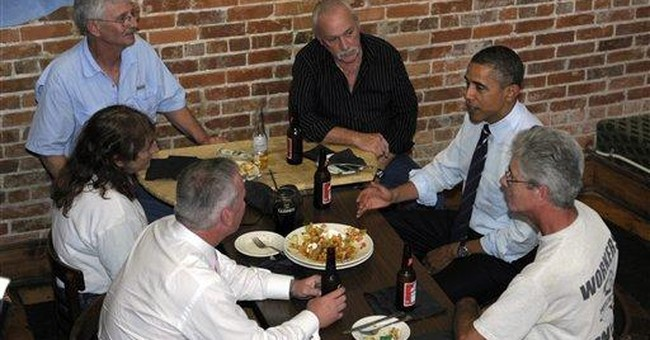 Obama, unemployed workers toast to more jobs