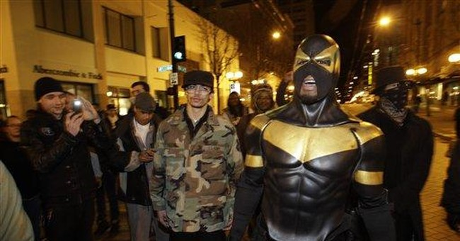 Seattle 'superhero' dons mask to enter courtroom