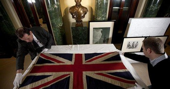 Flag, photos mark centenary of UK South Pole trip