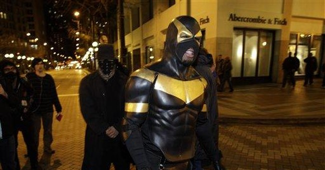 Seattle 'superhero' bails out, back on street