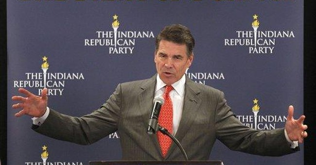 Perry backs wife's 'rough month' campaign comment