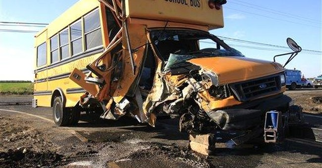Adult students injured in Calif. bus-tractor crash