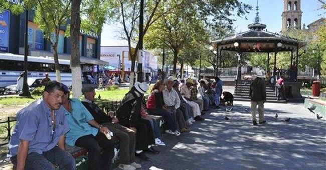 Violent Mexico city tries selling its bright side