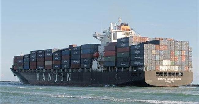 Trade gap slips to $45.6 billion in August