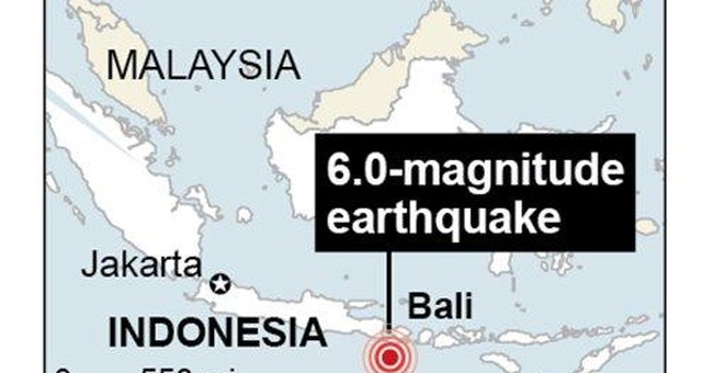 Indonesia's Bali shaken by quake; dozens injured
