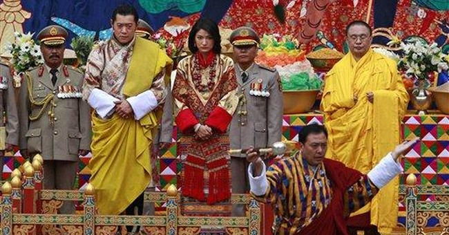 King of Bhutan marries in elaborate ceremony