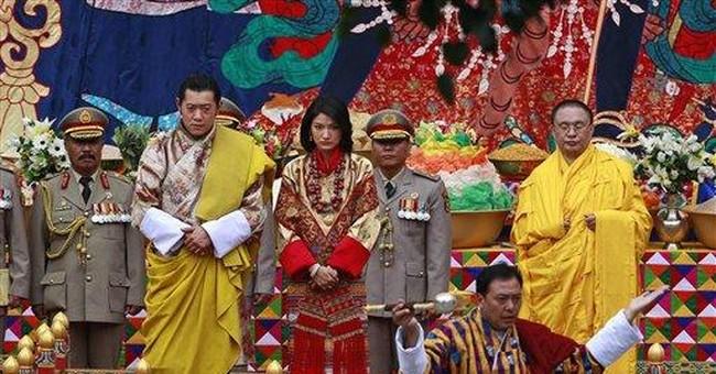 King of Bhutan marries in elaborate ceremony