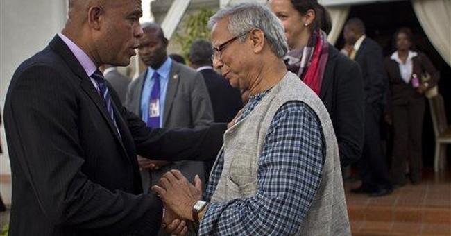Muhammad Yunus brings 'social business' to Haiti