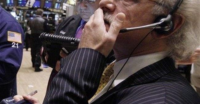 Dow average turns positive for 2011; Google soars