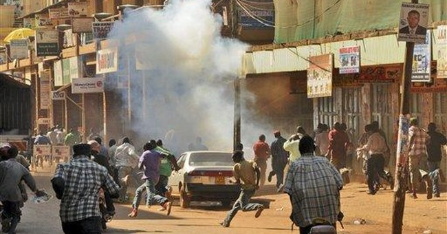 Uganda police tear gas protesters in capital