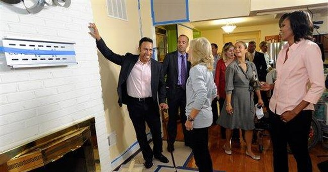Michelle Obama helps retrofit wounded vet's home