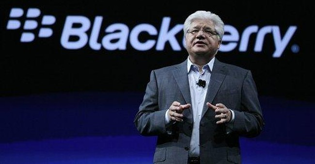 BlackBerry maker shows new phone, tablet software