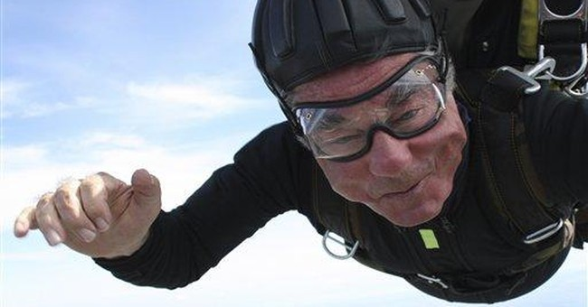 Austria's president jumps from plane