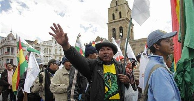Indigenous protest march reaches Bolivia's capital