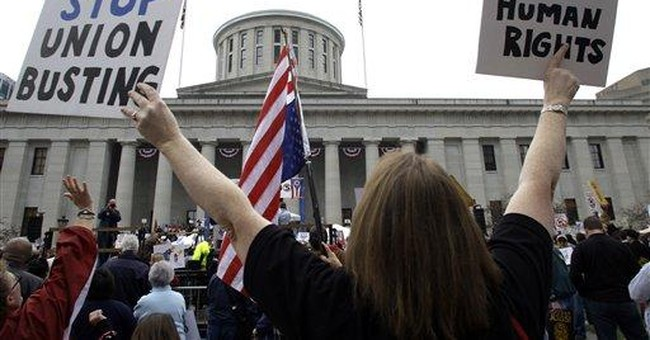 Ohio union fight could boost Dems' 2012 chances