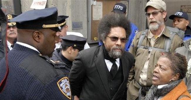 Cornel West among arrested outside NYC precinct