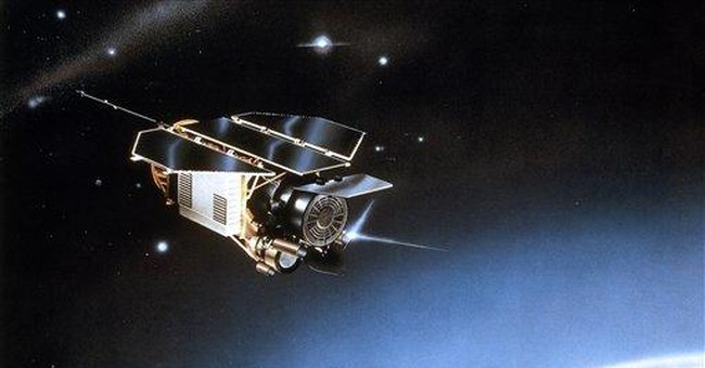 German falling satellite entered atmosphere