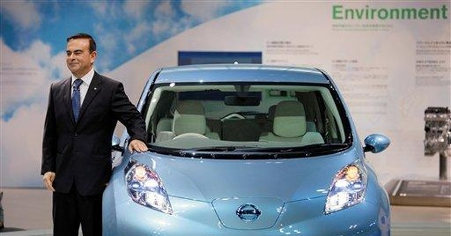 Nissan aims to be world No. 1 in green vehicles
