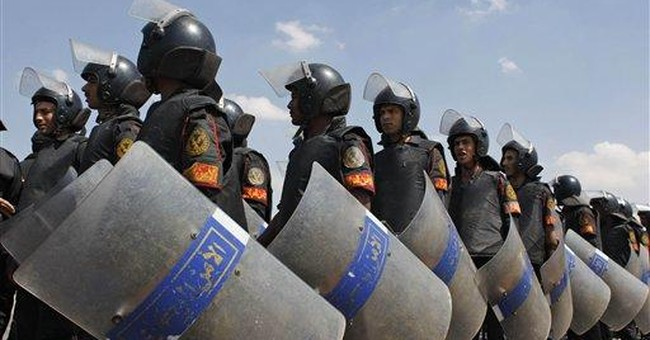 Thousands of Egyptian police go on strike