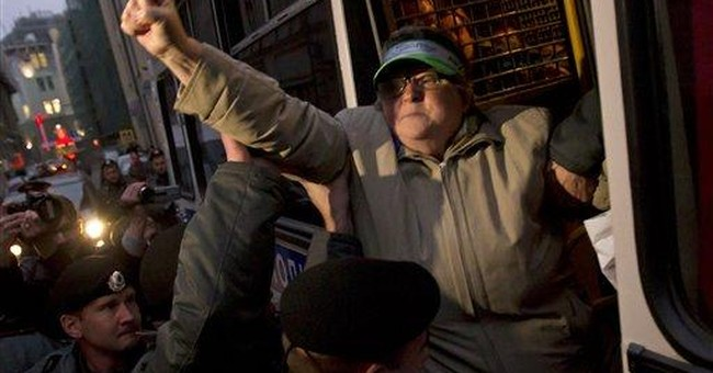 Police detain 12 in protest rally in Moscow