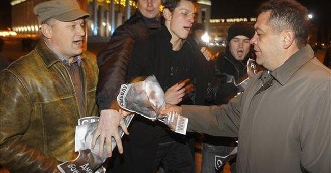 Police in Belarus arrest 5 at opposition protest