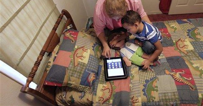Squirmy toddler? There's an app for that