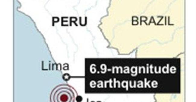 Magnitude-6.9 quake shakes Peru's coast