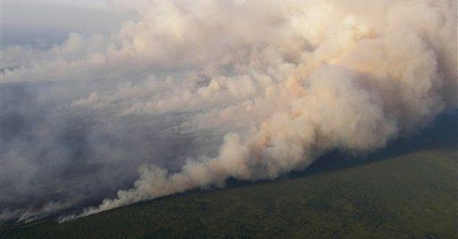 Costly wildfire defies firefighters in Ga. swamp