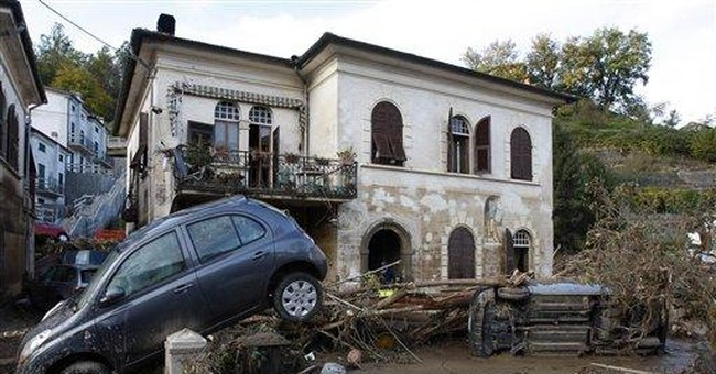 Italy gives emergency aid to flooded towns