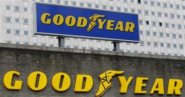 Goodyear posts 3Q profit, revenue up 22 percent