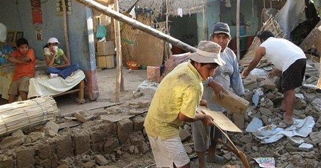 Peru quake destroys 134 homes, injures dozens